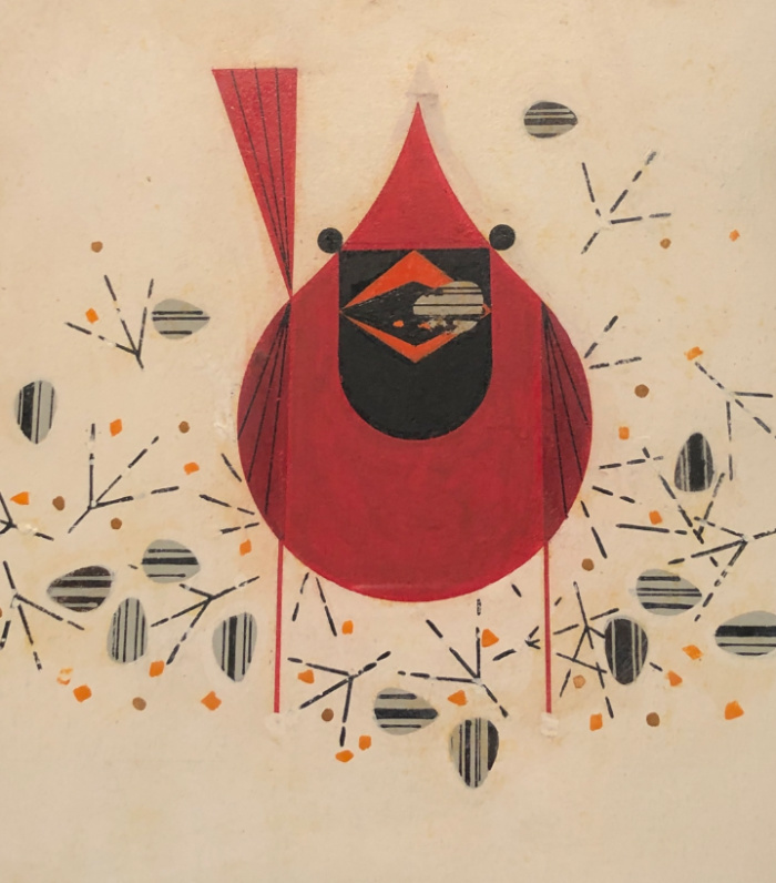 Cardinal and Seed (Study for Charley's Cardinal)