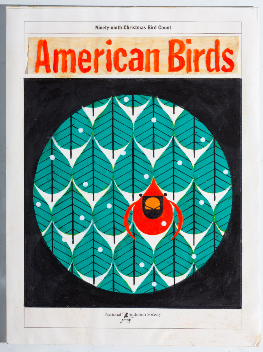 American Birds cover Charley Harper Artist,original for sale